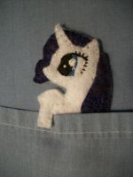 Rarity Handmade Mini Felt Pocket Pony 1b by grandmoonma