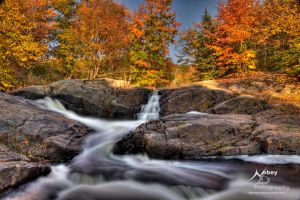 HDR Autumn Stream Falls 3 by Nebey