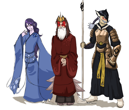 The Legendary Trio by umbbe
