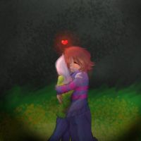 Frisk and Asriel by Frostwing1201