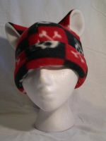 Red And Black Pirate Kitty by kittyhats