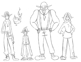 Line Up by Kima-chi