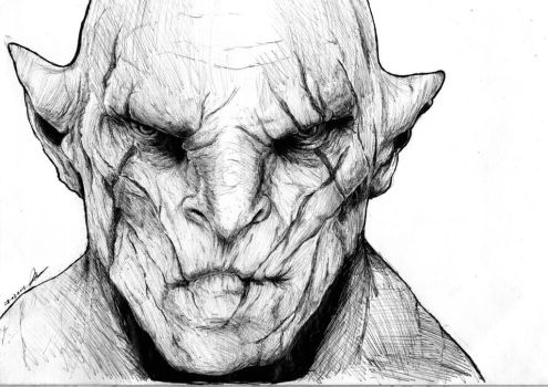 Azog The Defiler - The Hobbit. by titinacho