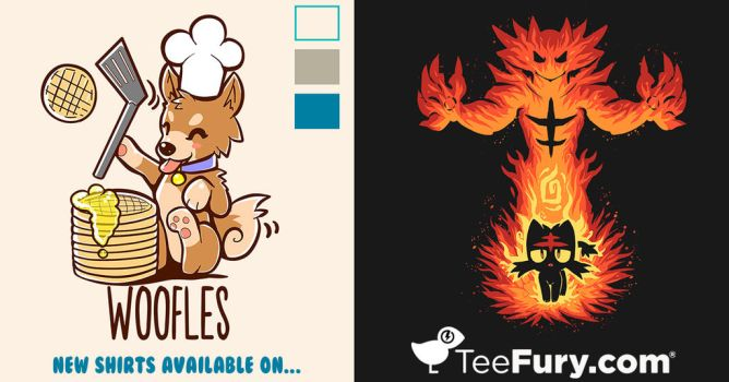 2 new designs of mines have been added to TeeFury! by SarahRichford