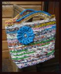 crochet plastic hand bag by DarkDollArt