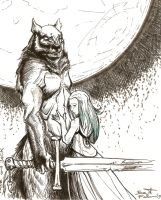 JF - werewolf and fairy by Sicut-Felem
