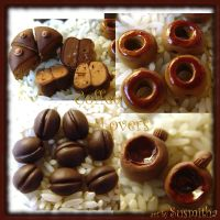 Coffee Lovers Bead Set by susmitha