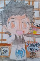 KHR Yamamoto with his Sushi by Bluedragoncartoon