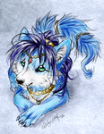 .:Krystal Wolf:. by WhiteSpiritWolf