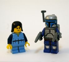 Jango and young Boba by Xero-Dubber