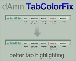 dAmn TabColorFix by electricnet