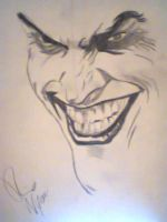 a quick sketch of the joker by Rikke1995