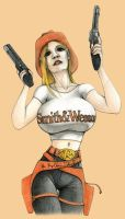 Cowgirl With Her Huge Guns by JREAGANA