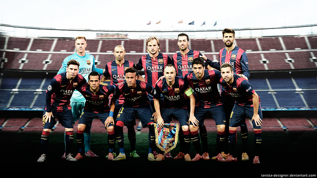 FC BARCELONA - 2015 Wallpaper Team by LaVista-Designer