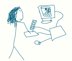 Me Drawing Me Drawing Me by Flusk