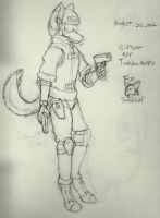 Tundra-Husky  .:- WIP- gift art:. by Fox-Superior