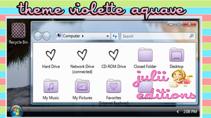theme iconpackager violette aquave by julii478