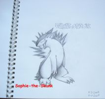 Typhlosion is Happy by Sophie-The-Skunk