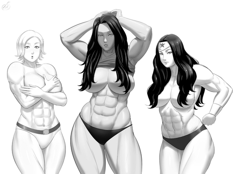 Comm - PG, SheHulk and Wondy by lvlapple