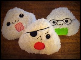 Custom Onigiri Emoji Plush by The-Cute-Storm