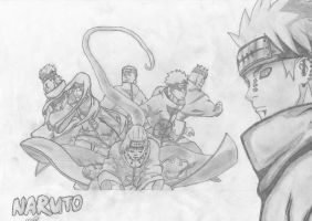 6 Paths of Pain - Naruto Finished by mikhell1