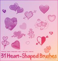 31 Heart Shapes by contradictz
