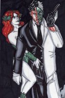 Poison Ivy and Two-Face by tedkordlives