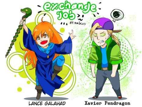 Exchange Job w0 : Lance and Xavier by Amtai03