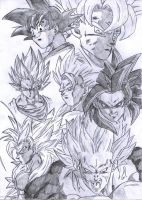 Goku Super Saiyan Forms by pete-tiernan