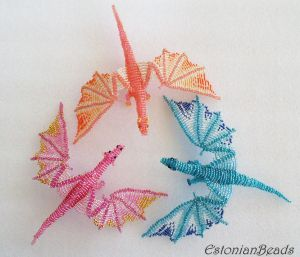 Beaded dragons by EstonianBeads