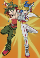 Yuya and Yugo by BlueYusei