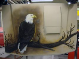 Airbrush - Bald eagle by Marzzunny