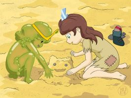 Playing in Sand by -coldfusion-