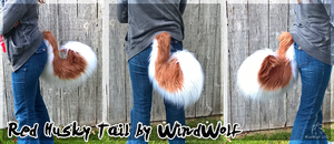 Red Husky Tail by WindWo1f