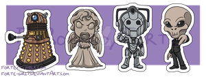 Stickers: Doctor Who Villains by forte-girl7