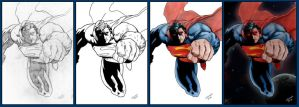 Superman - Progress by StingRoll