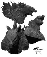 zGODZILLA 2014 head alternate views by dopepope