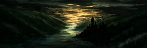 Hogwarts Sunset .Speed. by Heyriel