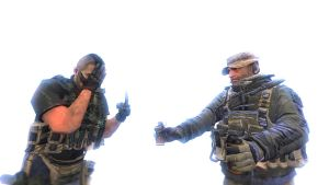 Captain Price has something for flashing. by Kresselack1313
