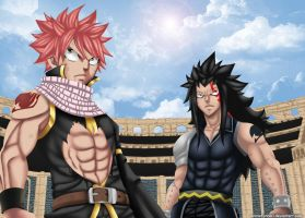 Natsu and Gajeel-The great tag team by AnimeFanNo1