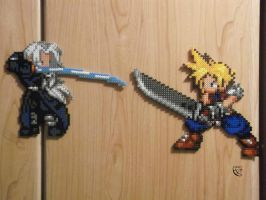 The Duel Perler Beads by Cimenord
