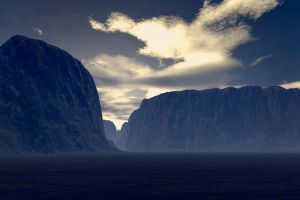 Terragen - mountains 1 by Drezdany-stocks