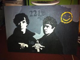 sherlock painting finished by dragongirl02