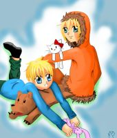 Kenny and Butters by MaruSakura
