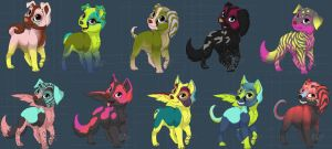 ADOPTABLES!! -SUPER CHEAP- by xXfree--pointsXx