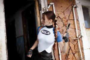 Lara Croft SOLA wetsuit - broken door by TanyaCroft