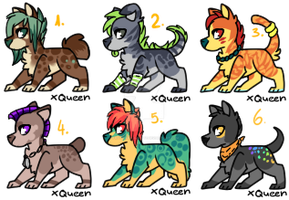 Canine batch [CLOSED] by Frgt10Kat-Adoptz