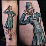 Attendant pinup by allentattoo