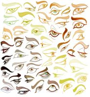 Eyes practice 2 by FlyingCarpets