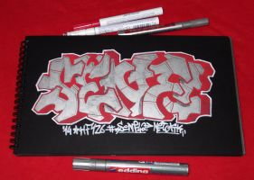 Chrome sketch in a black blackbook by Senf42